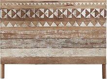 Testata da letto a motivi in legno riciclato L 160