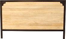Testata da letto in metallo e legno di mango