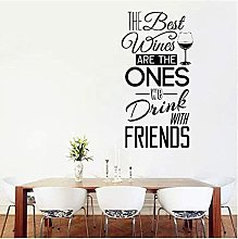 The Personality Slogan And Friends Share Wine Wall