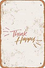 Think Happy Retro Look 20X30 CM ferro decorazione