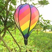 ThinkWay - Girandola a vento a righe, multicolore