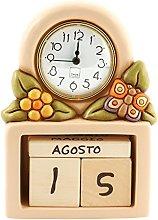 THUN Country Calendario Perpetuo con Orologio,