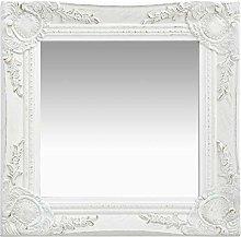 Tidyard Specchio da Parete Quadrato Rotondo