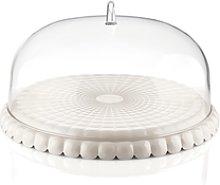 Tiffany Tortiera con campana trasparente (30cm)