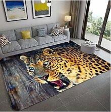 Tiger Carpet Open Mouth Sul Pavimento Stampa