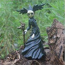 Tik LP Halloween Strega Scultura Strega figurina