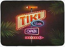 Tiki Bar Tappetino da bagno, Old Fashioned Neon