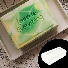 Timbro di sapone acrilico trasparente Parole