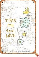 Time For Tea Love 20,5 x 30,5 cm in stile vintage,