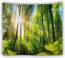 TINGPF Arazzo 3D Foglie Verdi arazzo pianta