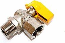 TLDSHOP® - Rubinetto gas varie misure e modelli -