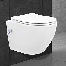 Toilette senza brida da appendere funzione bidet
