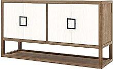 Tolalo Log di legno di colore solido Credenza,