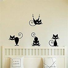 Topgrowth Wall Sticker Tre Gatti Animale Domestico