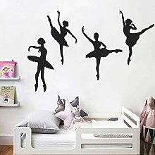 Tophappy Adesivo da Parete Ballerina Creativo Wall