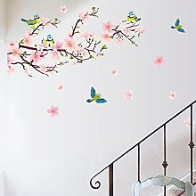 Tophappy Wall Stickers Magpies e Fiore di pesco