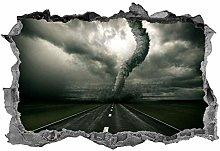 Tornado, 3D, adesivo, arte della parete, tempesta,