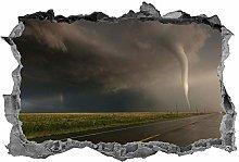 Tornado, adesivo, 3D, arte della parete, tempesta,
