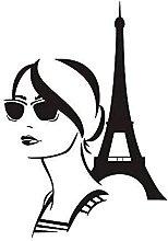 Torre Eiffel Adesivo Murale Fai Da Te Fashion Girl