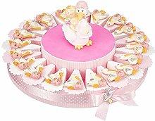 Torta bomboniera con confetti per nascita con
