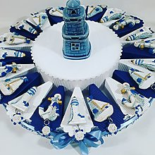 Torta bomboniera portaconfetti Battesimo Nascita