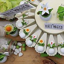 Torte Bomboniere Matrimonio Eleganti con Piantine