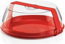 Tortiera con Campana Trasparente Fascia Rossa -