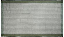 Tovaglia a quadri 140x240, verde/bianco