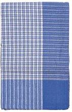 Tovaglia a quadri 150x320, blu/bianco