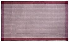 Tovaglia a quadri 150x320, rosso/bianco