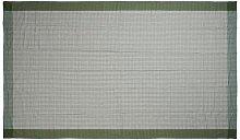 Tovaglia a quadri 150x320, verde/bianco