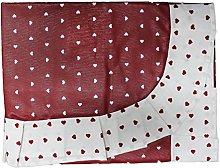 Tovaglia Copritavola Antimacchia Rosso Bianco