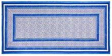 Tovaglia in cotone 140x240, blu/bianco