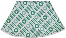 Tovaglia rotonda Baguette diam 150, verde/bianco