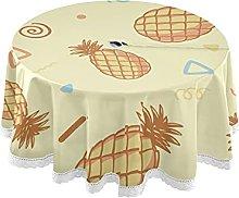 Tovaglia rotonda con apertura a forma di ananas