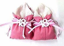 TradeShop - Set 12PZ Sacchetto Rosa Numero 18 Anni
