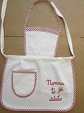 Trama Toscana Grembiule Bambina Cuoca in Cotone