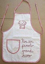 Trama Toscana Grembiule Bambino Cuoco in Cotone