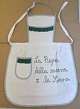 Trama Toscana Grembiule Donna Cuoca cm 60x90 in
