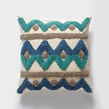 Trapuntatura in tela di cotone, cuscini ricamati,