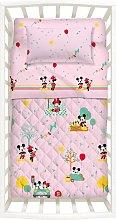 Trapuntino con Paracolpi Primaverile Minnie&Mickey