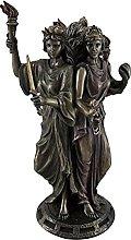 Tre Dee Statua in resina, 3,94 x 8,15 x 15,30 cm,