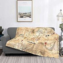 Treasure Map Basics Coperta in peluche fuzzy