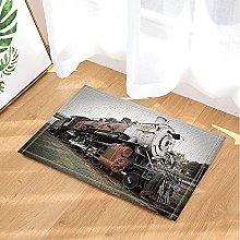 Treno decorato treno obsoleto Tappetino da bagno