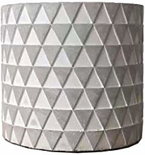 Triangolare Relief Cement Flower Pot Modern Home