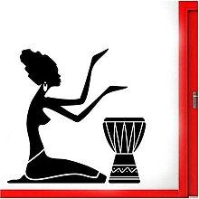 Tribale Africano Batterista Ballerino Decorazione