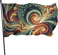 Trippy, bandiera da giardino psichedelica con