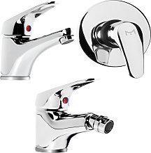 Tris rubinetto miscelatore lavabo bagno + bidet +