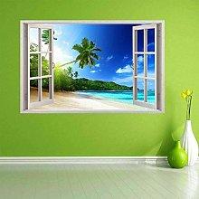Tropical Island Beach Sunset Wall Art Sticker