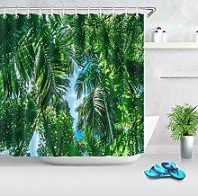 Tropicale giungla palma paesaggio HD stampa, bagno